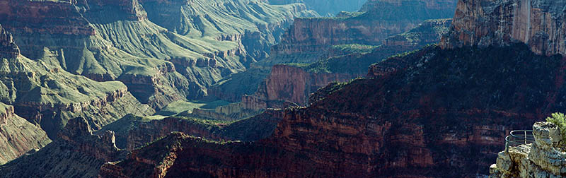 AZ: Northern Arizona Region, Coconino County, Grand Canyon Area, Grand Canyon National Park, North Rim, Grand Canyon Lodge-North Rim, Lodge Overlook, Canyon view [Ask for #275.174.]