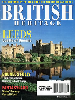 "Cover of the magazine, ""British Heritage"" (May 2004), featuring cover photo and story by Jim Hargan, ""Leeds: Castle of Queens"""
