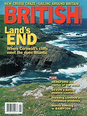 ENG: South West Region, Cornwall, Front cover of British Heritage magazine for January 2010, a photo of sea cliffs at Lands End in Cornwall, by Jim Hargan [Ask for #990.055.]